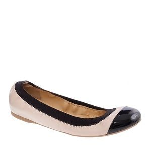 J. Crew | Mila Cap Toe Leather Ballet Flats 8